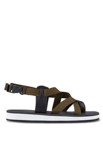 ZALORA black Contemporary Multiple Strap Urban Sandals FF281SH2BE68B4GS_1