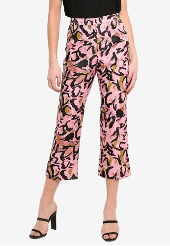 81a328f4c6e1 Buy TOPSHOP Animal Jacquard Trousers Online on ZALORA Singapore