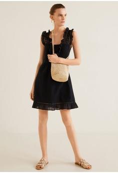 9223e0003a5c 18% OFF Mango Short Ruffled Dress RM 156.90 NOW RM 129.00 Sizes S M L