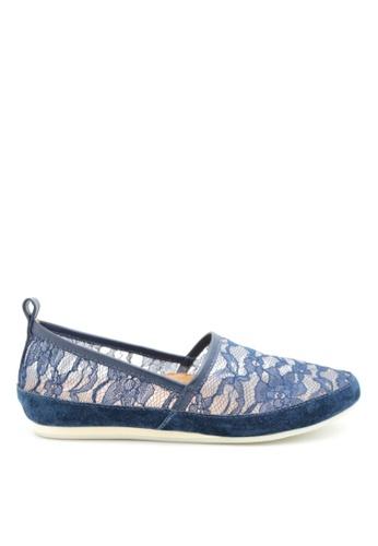 PRODUIT PARFAIT 藍色 蕾絲平底鞋 D900ASH7B955EAGS_1