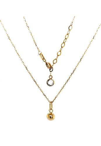 KARAT WORLD gold HQZ 18Kt Yellow Gold Chain Pendant B499CACD5B70C5GS_1
