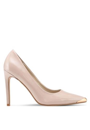 ZALORA beige Front Tip Detail High Heels F4615SH3CA9A8CGS_1