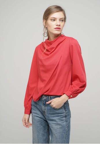 Megane red Red Romance Jenina Drape Top D4596AA587E879GS_1