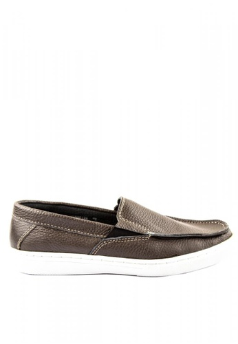 Otto brown Slip on Sneakers 126F4SH13F1C85GS_1