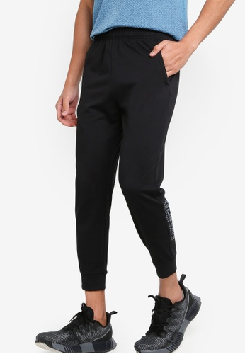 361° black Cross Training Knit Cropped Pants 2253DAA73E9B09GS_1