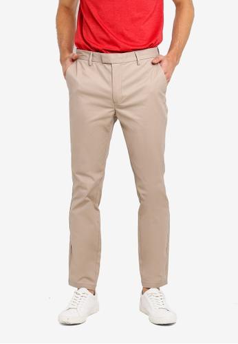 Burton Menswear London 米褐色 修身卡其褲 A72E7AAE8B2419GS_1