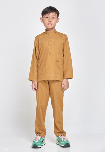 MOTHER & CHILD brown Baju Melayu Sultan Exclusive Kids AA7E5KA0538718GS_1