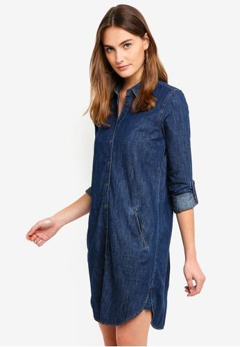 ESPRIT blue Denim Midi Dress 918FEAA47FF3CEGS_1