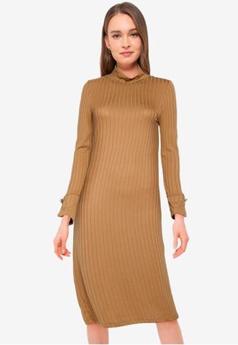Vero Moda brown Vilja Long Sleeves Dress 2E607AA499AACCGS_1