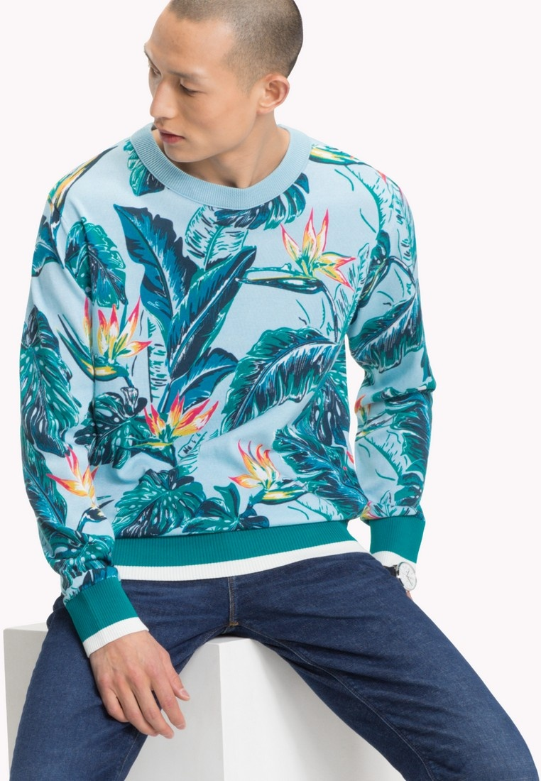 FIT Tommy Hilfiger ABSTRACT RELAXED COOL BLUE qa5Evx7wf