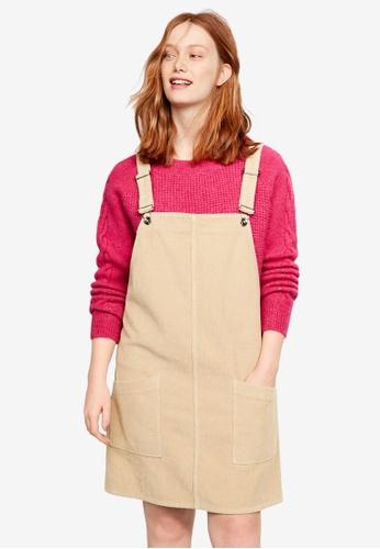 Plus Size Corduroy Pinafore Dress