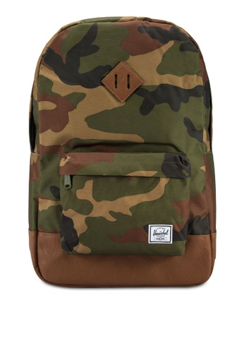Herschel green and multi Settlement Backpack HE114AC0RE8EMY_1