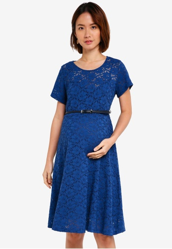 Pietro Brunelli Milano blue Rodano Lace Maternity Dress 1F4D9AA8ACD835GS_1
