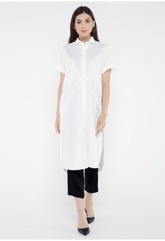 be93beec87 REE Effortless Slit Shirt - Broken White Rp 499.000. Ukuran One size