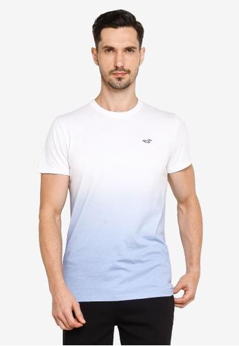 Hollister white Crew Ombre T-Shirt 583E9AA6B7E66EGS_1