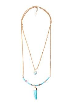 Stone Husk Layered Necklace