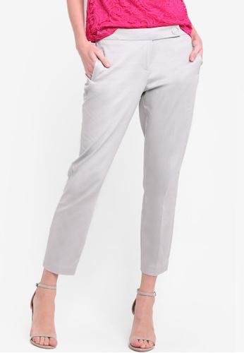 Dorothy Perkins grey Grey Circle Cotton Sateen Trousers DO816AA50ZEZMY_1