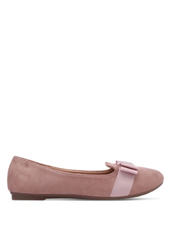 Noveni pink Bow Detail Loafers NO978SH0RX2EMY_1