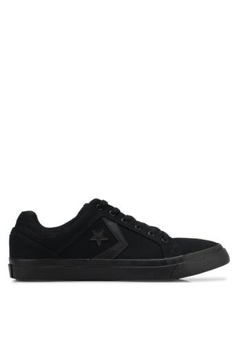 Converse black EL Distrito Ox Sneakers CO302SH0SW75MY_1
