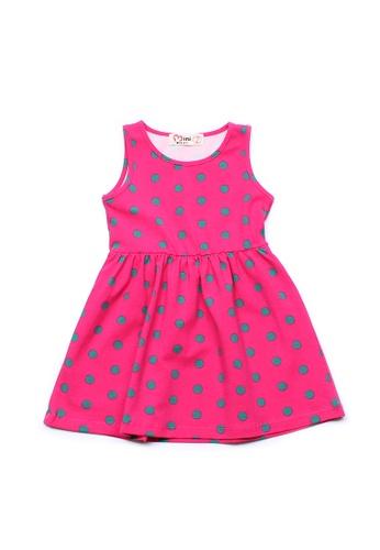 Mini Moley pink Polka Dot Print Girl's Dress 09EE9KA4F42F4FGS_1