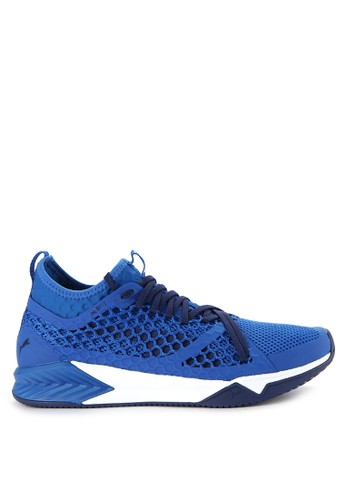 PUMA blue Ignite Xt Netfit Shoes PU245SH0WDBRID_1