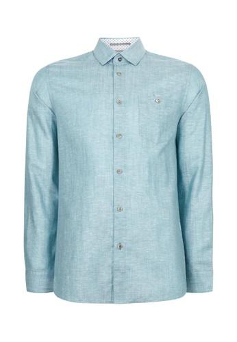 TED BAKER white Ted Baker TIPTOE Linen shirt 2F709AA1A51A3DGS_1