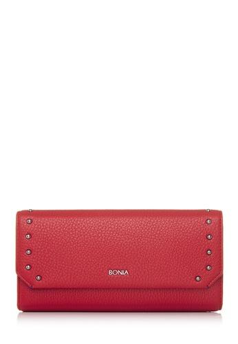 BONIA red Red Exquisite Chequebook Wallet BO777AC70GFXMY_1