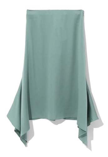 b+ab green Handkerchief hem skirt 5A3CAAA1E2DAD1GS_1