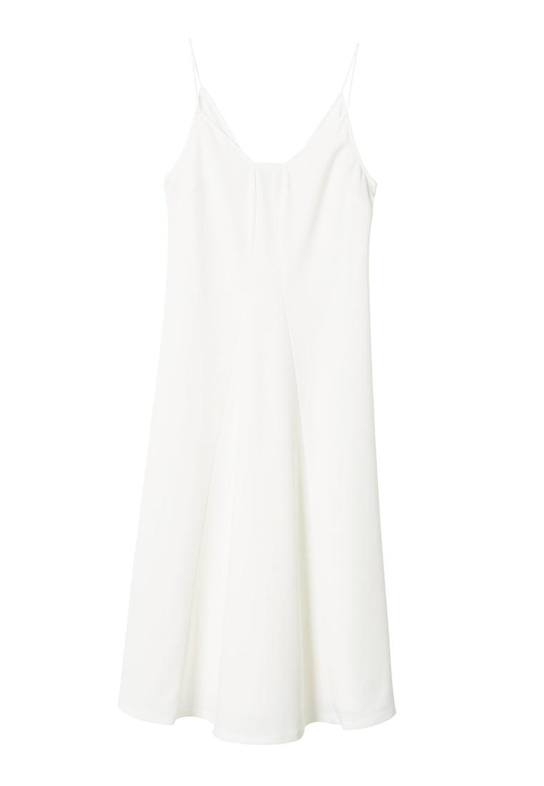 Crepe Seam Mango Seam Dress White Crepe Dress White Crepe Mango White Seam Dress Mango RT0qXw