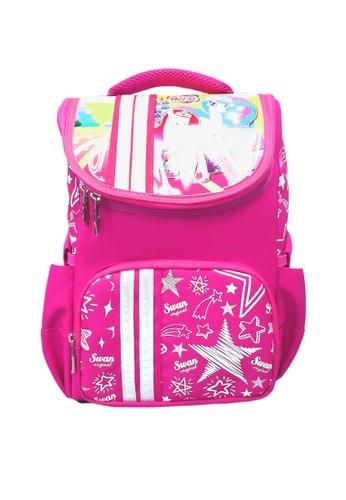 Swan pink Swan Kid Children SMART LITE  S/Bag With Free Pencil Box (Unicorn3) Spinal Protection Back Support EC1D6KC1844AF4GS_1