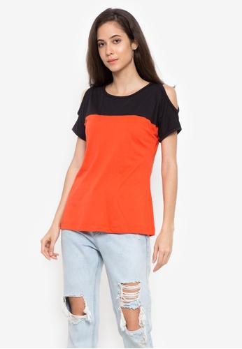 moondaze orange Contrast Color Top 33850AA205416EGS_1