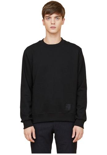 MILLOGREM black Half Check Sweatshirts MI241AA0GE5KSG_1