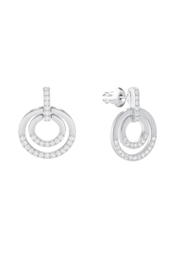 Swarovski silver Circle Pierced Earrings 369DDAC90A9871GS_1