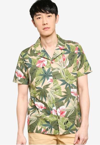 ZALORA BASICS multi Printed Camp Collar Shirt FFE2EAA0550A31GS_1