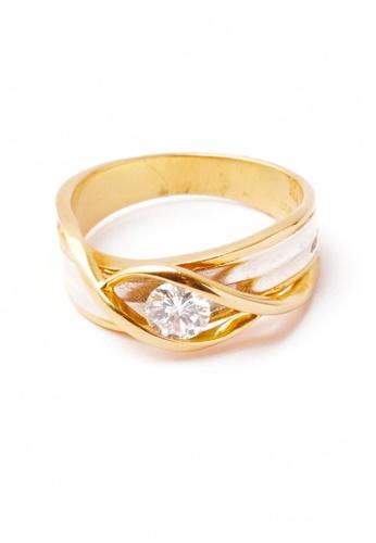 CEBUANA LHUILLIER JEWELRY gold 18K Karat Yellow Gold Lady Ring with Diamond BC610ACC8481E3GS_1