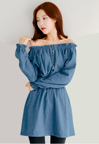 Sesura blue Femme Appeal Alluring Dress DDAA1AAC846FEDGS_1