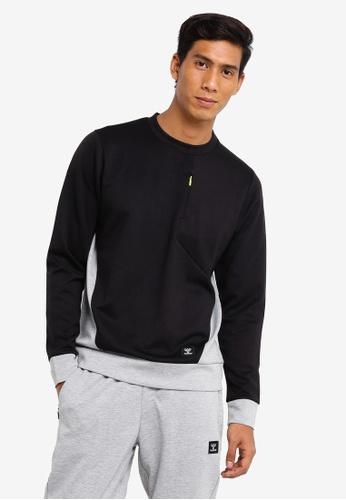 Hummel black Tropper Sweatshirt 625C9AAF3C8A49GS_1