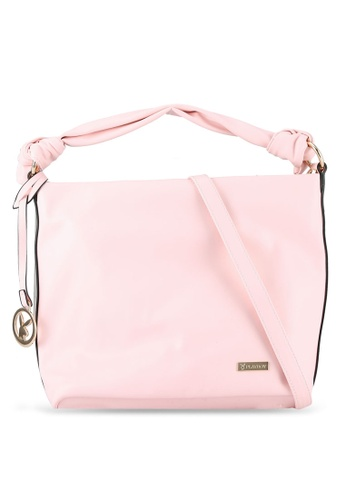 PLAYBOY BUNNY pink Casual Shoulder Bag PL604AC0RX6RMY_1