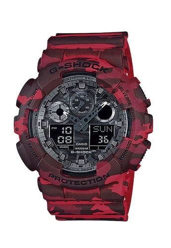 Casio red CASIO G-SHOCK WATCH GA-100CM-4ADR 9A986AC1B491F6GS_1