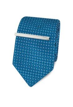 Burton Menswear London-Teal Semi Plain Tie