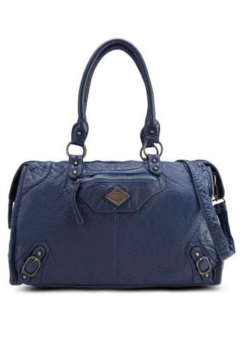 暗紋PU 手提包zalora時尚購物網評價, 包, 包