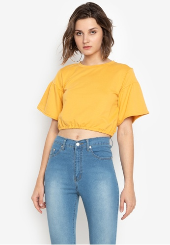 692f5d5cd8e55 Shop NEXT Pop Sleeves Crop Top Online on ZALORA Philippines