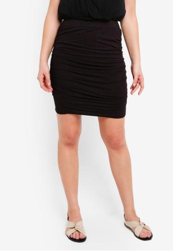 ICHI black Siko Skirt 9821AAA1E2F8ADGS_1