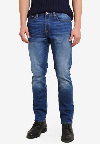 River Island blue Dylan Slim Fit Jeans RI009AA0SF6XMY_1