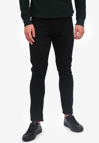 Jack & Jones 黑色 修身牛仔褲 0BD07AAC15A0A1GS_1