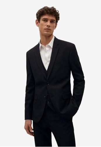 MANGO Man black Super Slim-Fit Suit Blazer A0E16AA9623A50GS_1
