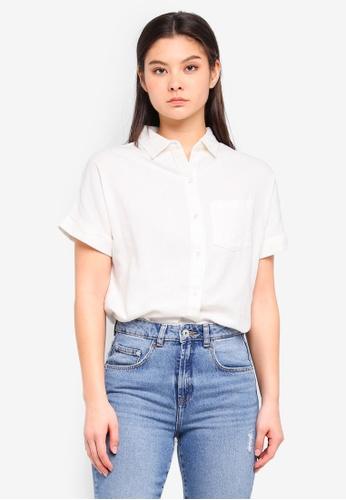 ICHI white Joanne Shirt 5B4D0AA955EFE1GS_1