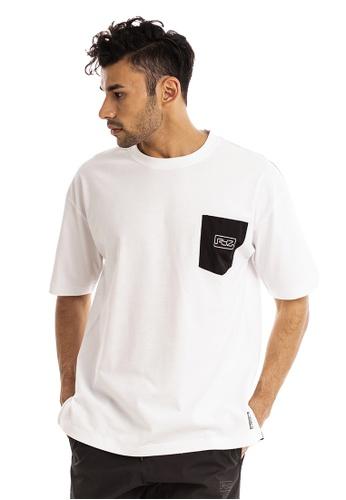 RYZ white RYZ Contrast Pocket White Short Sleeve T-Shirt. 407D5AAB0683BBGS_1
