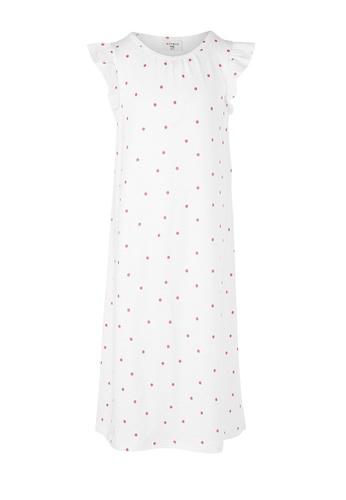 Gen Woo white Polka Dot  Sleep Dress By Gen Woo F737CKAB78B294GS_1