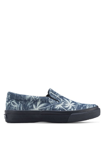 Sperry blue Striper Slip On Shoes SP132SH26FQBSG_1